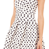 Gracia Polka Dot Elastic Banded Dress