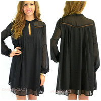 Bradley Walk Black Swing Dress