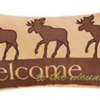 Welcome To The Mountains Throw Pillow
