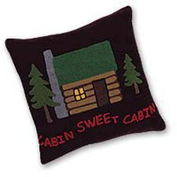 Home Sweet Cabin Throw Pillow