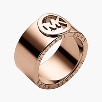 Women's Michael Kors 'Fulton' Cigar Band Ring