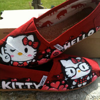 Custom Hello Kitty x TOMS original design by Thatkidg on Etsy