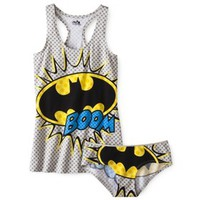 Juniors Batman Tank and Panty Set - Gray