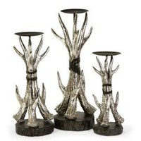 One Kings Lane - Into the Wild - S/3 Antler Candleholders