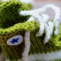 Punk Rock Baby Booties  Green Converse by FuzzyFunkDesigns on Etsy