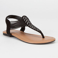 Soda Oring Girls Sandals Black  In Sizes