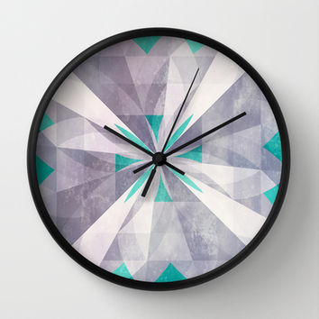 Purple mint Wall Clock by SensualPatterns