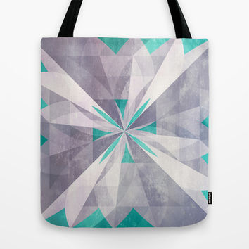 Purple mint Tote Bag by SensualPatterns