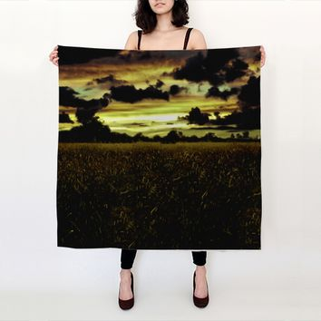 Dark Meadow Landscape Scarf by Daniel Ferreira-Leites (Big Square Scarf (36