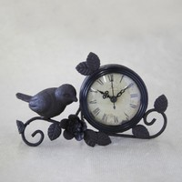 Time Flies Mantel Clock