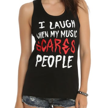 My Music Scares People Girls Tank Top