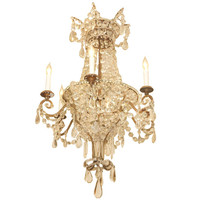 Kevin Stone Antiques - 18th Century Italian Crystal And Gilt Iron Basket Chandelier - 1stdibs