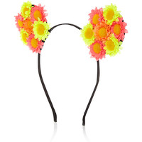 River Island Womens Yellow flower ears hairband