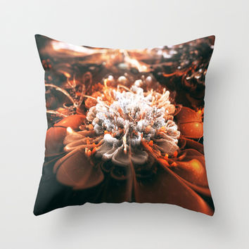 Ignition Throw Pillow by SensualPatterns