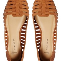 New Look Wide Fit Jadiator Flat Shoes
