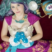 55cm Ever After High Madeline Hatte Long Teal&purple Curly Wave Lolita Costumes Full Wigs Zy77