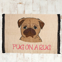 Pug On A 2x3 Rug - Urban Outfitters