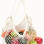 Ecobags Natural Cotton String Market Bag