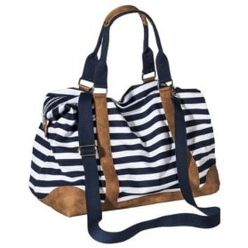 Merona® Stripe Weekender Handbag with Removable Crossbody Strap - Navy