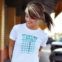 Studying Sucks, I Prefer To Gamble T-Shirt | SnorgTees