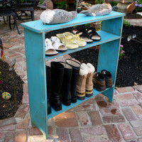 Wood Shoe Storage Entry Hall Mud Room Shabby by honeystreasures