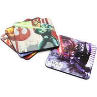 ThinkGeek :: Star Wars Wood Coaster Set