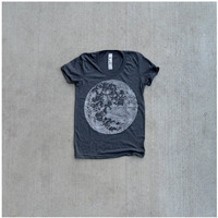 My Moon My Man womens t shirt MEDIUM moon by blackbirdtees