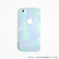 Bokeh Glitter iphone 5 case, Blue Ombre iphone 5s case, iphone 5 cover , cute iphone case , iphone 5s cover,
