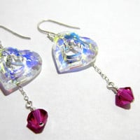Miss U Heart Swarovski Element Series Dangling by LuckyStarsHawaii