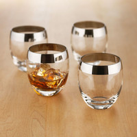 Mirror Edge Whiskey Glasses - Set of 4
