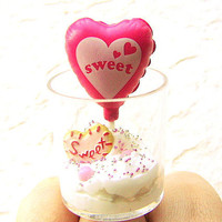 Miniature Food Ring Sweet Pink Hearts Food by SouZouCreations