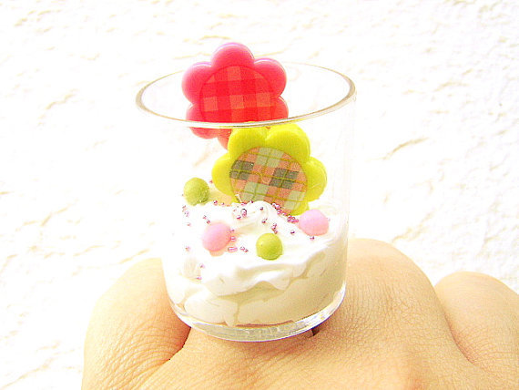 Miniature Food Ring Candy Flower Garden Food by SouZouCreations
