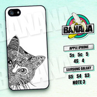 Eavesdropping Cat, Totem, Animal, iPhone 5 case, iPhone 5C Case, iPhone 5S case, Phone case, iPhone 4 Case, iPhone 4S Case, Phone Skin, BC05
