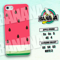 Watermelon, Fruity, Summer, iPhone 5 case, iPhone 5C Case, iPhone 5S case, Phone case, iPhone 4 Case, iPhone 4S Case, Phone Skin, WM01