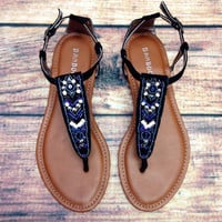 ANTIGUA BAY SANDAL IN MIDNIGHT – LaRue Chic Boutique