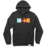 OG Script Colors Pullover Hood in Black