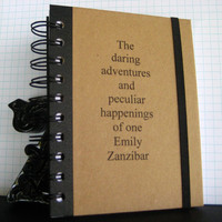Notebook Daring Adventures Graduation Personalized Journal by zany