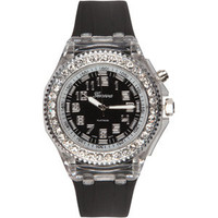 Rhinestone Round Face Light Up Watch 182308100 | watches | Tillys.com