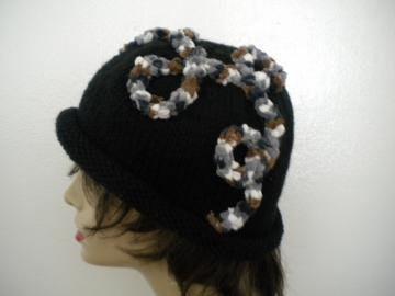 Black Curliecue Hat by IllusionsbyDonna on Zibbet