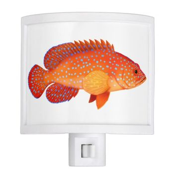 Red Miniatus Grouper Fish Night Light