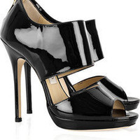 Jimmy Choo | Private patent-leather sandals | NET-A-PORTER.COM