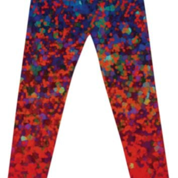 LEGGINGS Glitter Dust Background G16 created by Medusa GraphicArt | Print All Over Me