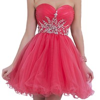 VILAVI Women's A-line Sweetheart Short Tulle Homecoming Dresses