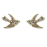 Swallow Crystal Beads Stud Earrings