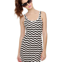 Billabong Well Grounded Black and White Print Dress