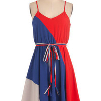 Worth a Tricolor Dress | Mod Retro Vintage Dresses | ModCloth.com