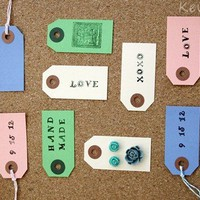 Pack of 60 Gift Tags in 4 Colors