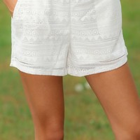 Closing Time Shorts-White