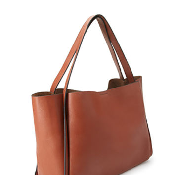 Pebbled Faux Leather Shopper