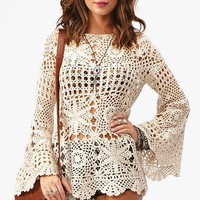 Ashbury Crochet Dress - Cream in  What's New at Nasty Gal